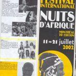 2002 Nuits D Afrique Canadá .