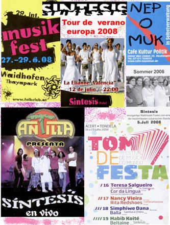 2008. Prensa europa tour verano SINTESIS